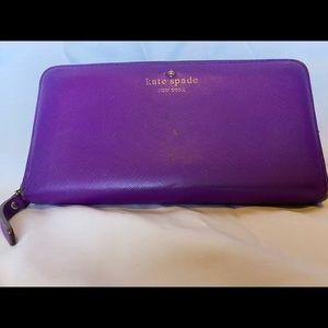 Kate spade new york purple leather wallet